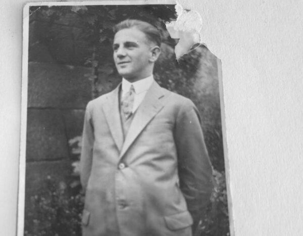 ritz Petschky als junger Mann in Arzberg um 1910