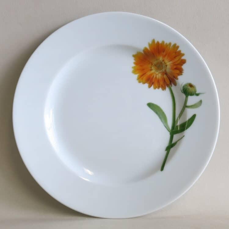 Teller Opty 21 cm mit Gartenblume Ringelblume