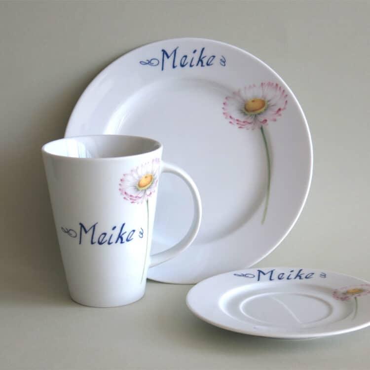 Frühstückset Gänseblümchen mit Becher Mona