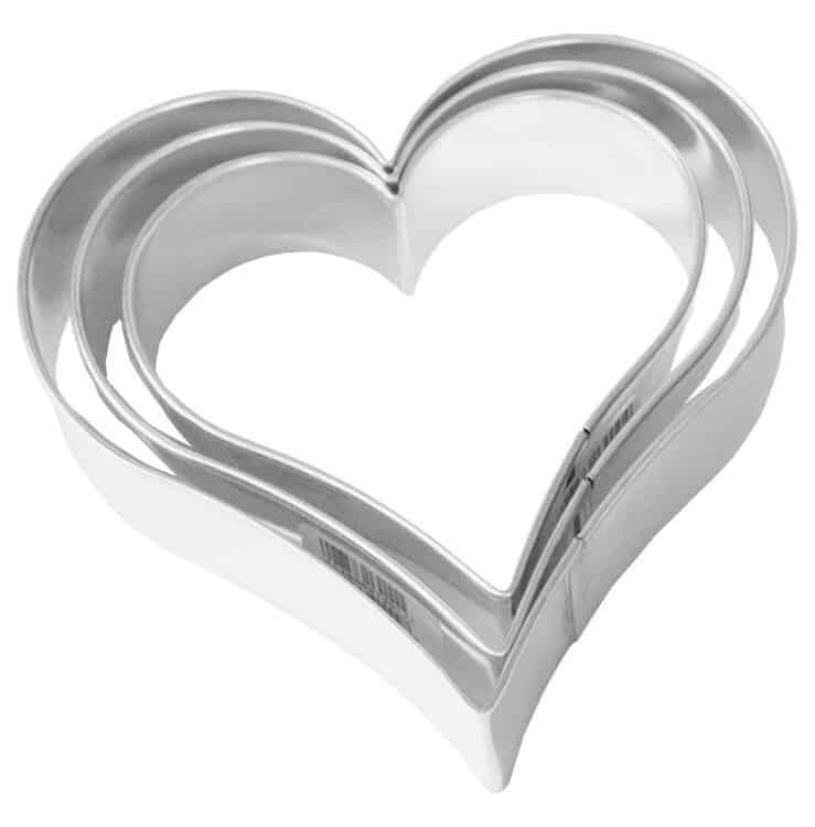 Herzen 3 Fach Terasse 4, 5,5 und 6,5 cm von Birkmann