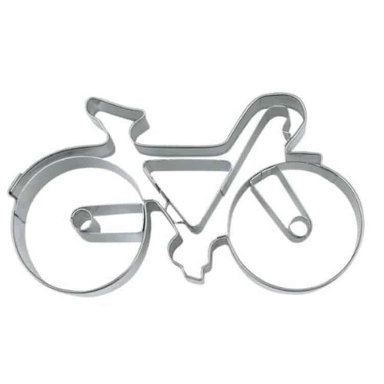 Städter Präge Relief Keksausstecher aus Edelstahl Fahrrad
