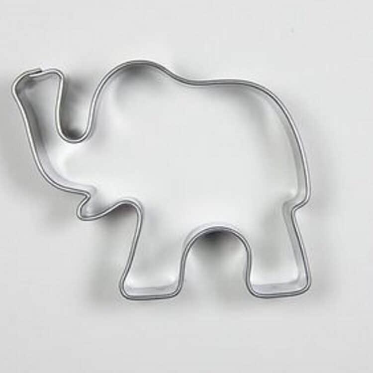Elefanten Keksausstecher aus Edelstahl für Plätzchen Kekse und zum basteln