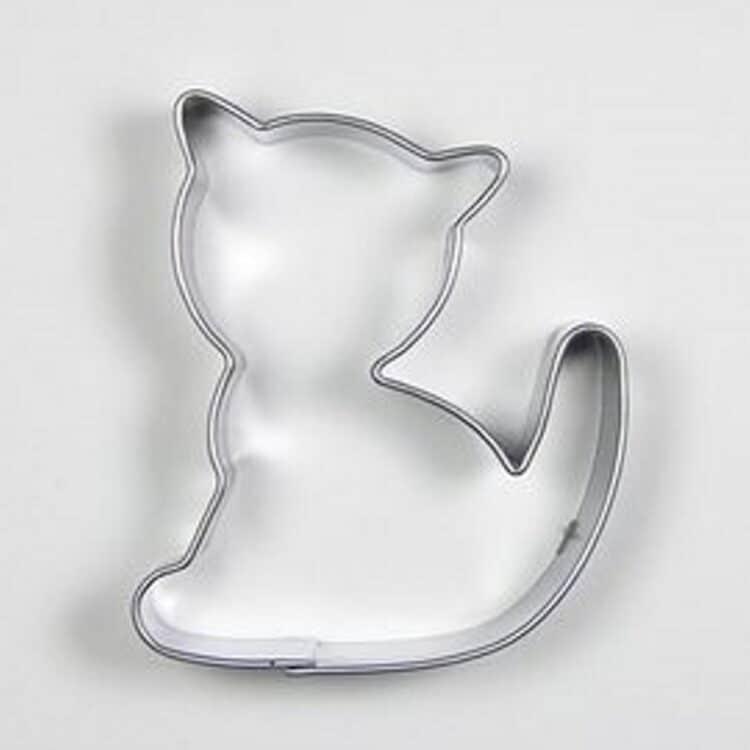 Katzen Ausstecher für Plätzchen aus Edelstahl