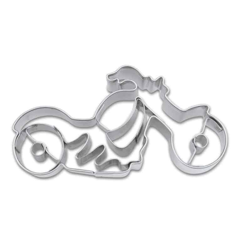 Präge Keksausstecher Städter 7 cm aus Edelstahl Motorrad