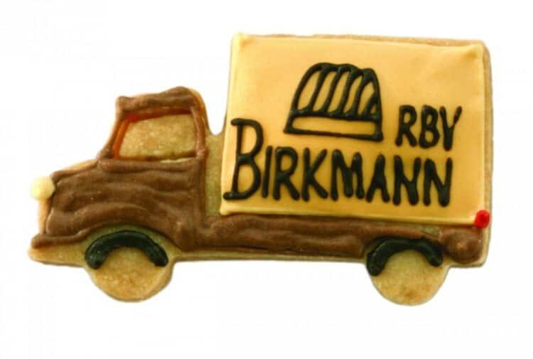 LKW Keksausstecher von Birkmann aus Edelstahl rostfrei dekorierter Keks