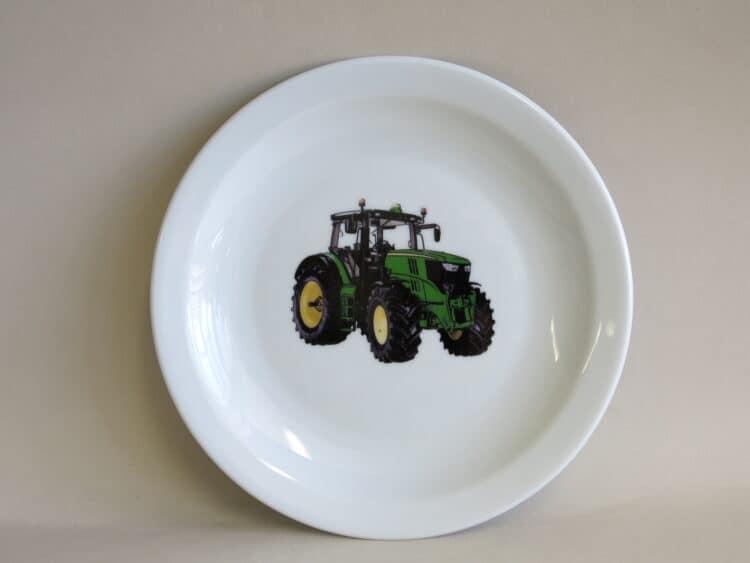 Teller Scandia 19 cm grüner Traktor für KiTas
