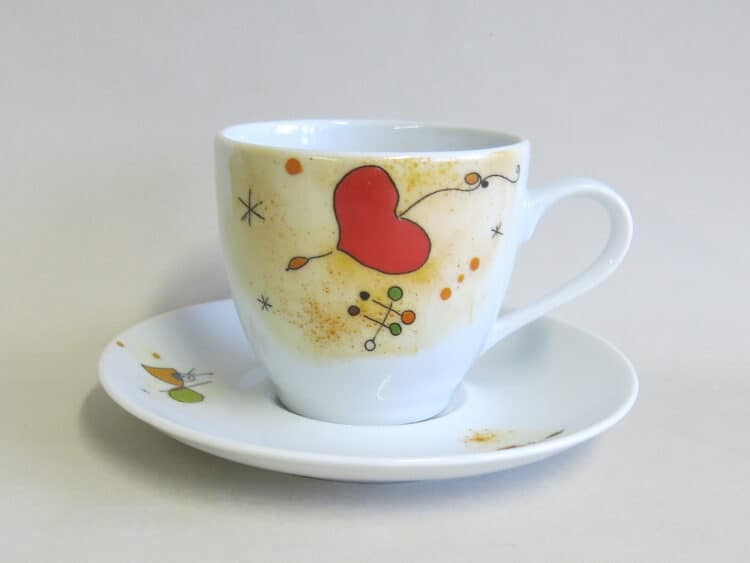 Kaffetasse Ole mit Motiv nach Miro Herz