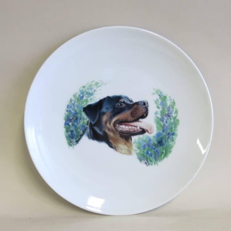 Frühstücksteller Ole 21 cm Rottweiler ohne Namen