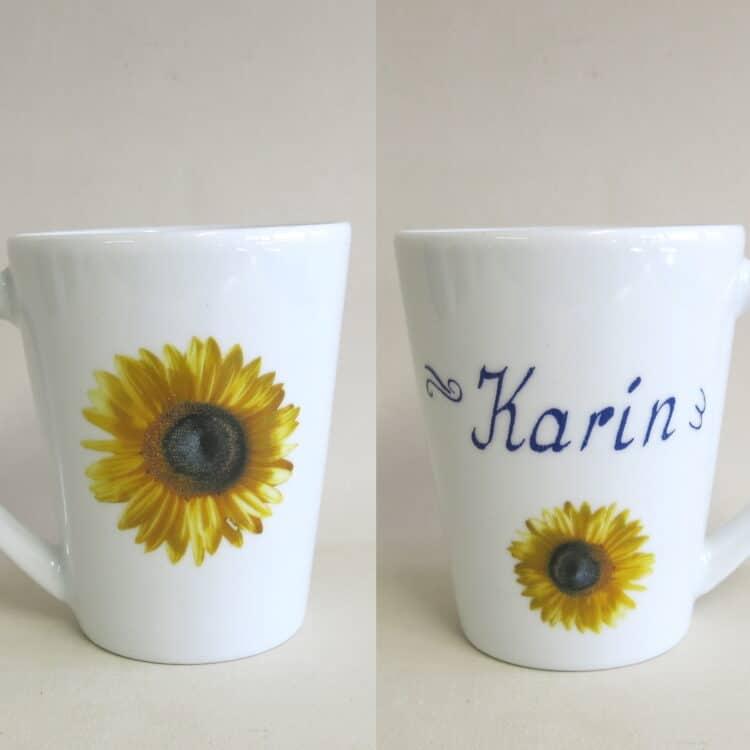 Namenstasse Clio Sonnenblumenblüte