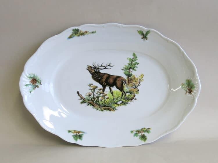 Platte Ofelie groß röhrender Hirsch