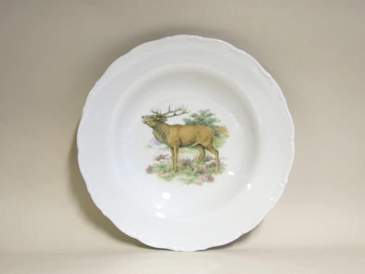 Englische Jagdmotive Teller Ofelie tief Hirsch