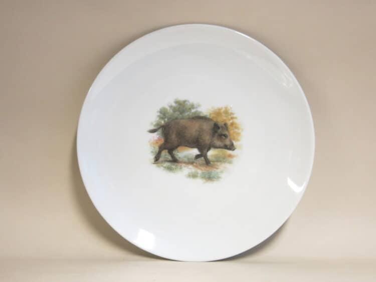 Englische Jagdmotive Teller Ole 27 cm Wildschwein
