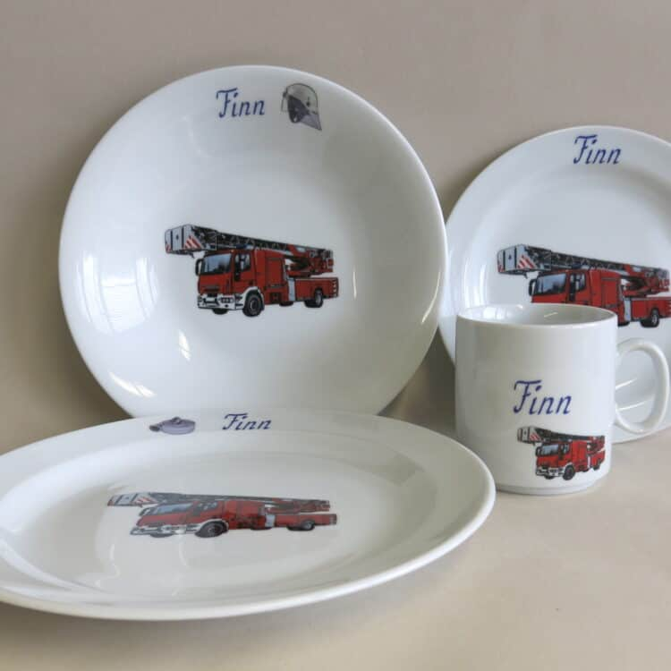 Set Essteller Feuerwehr realistisch personalisiert