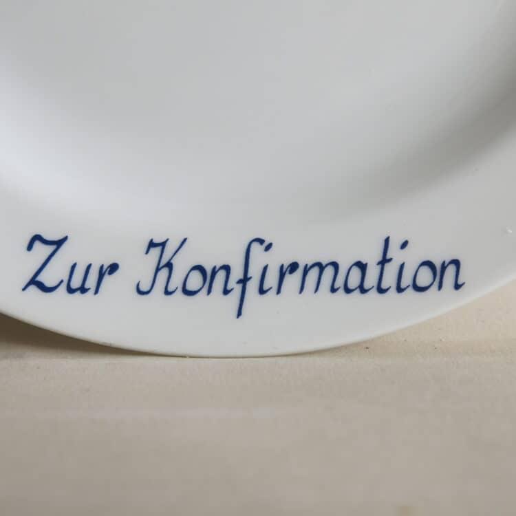 Widmungen auf Porzellan zur Konfirmation