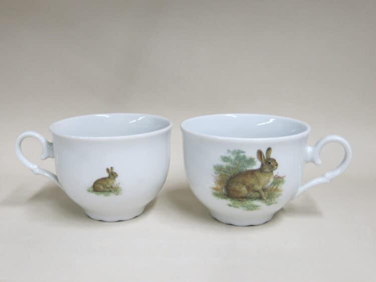 Teetasse ofelie vorne und hinten Wildkaninchen