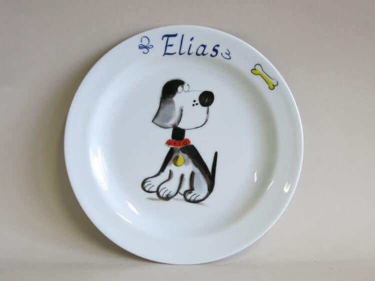 Teller Beagle Mimi mit Namen