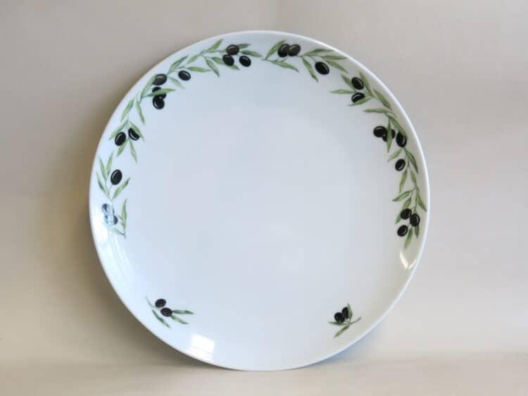 Durchbrochener Olivenrand Teller Ole groß