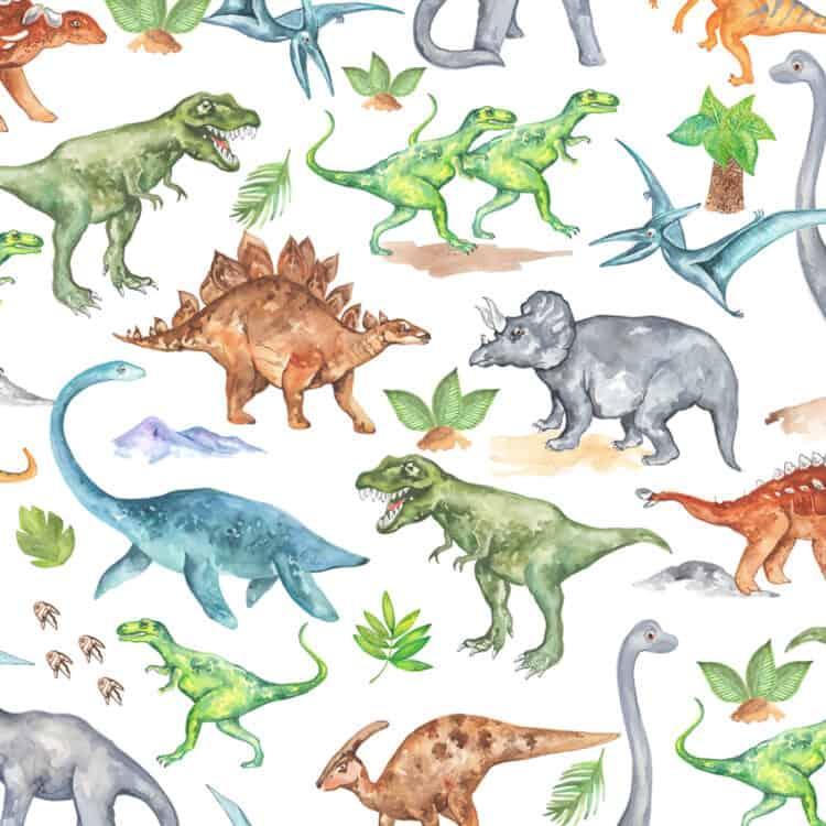 Motive Dinosaurier auf Porzellan