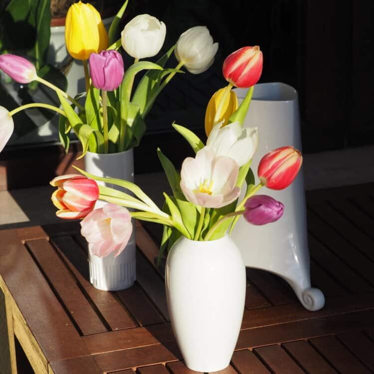 Weiße Porzellan Vase Retro und Classic stimmung