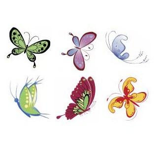 Motiv Bits für das Schmetterlingsherz verschiedene Schmetterlinge