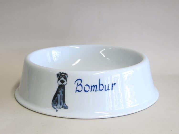Hundenapf mit Labrador Gustl