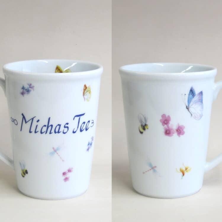 Namenstasse Erin Bienchen und Blümchen Michas Tee