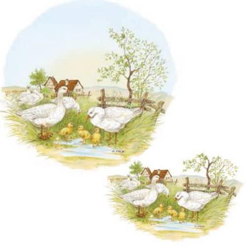 kunterbunt Kuh orange Kindergarten Porzellan Motiv