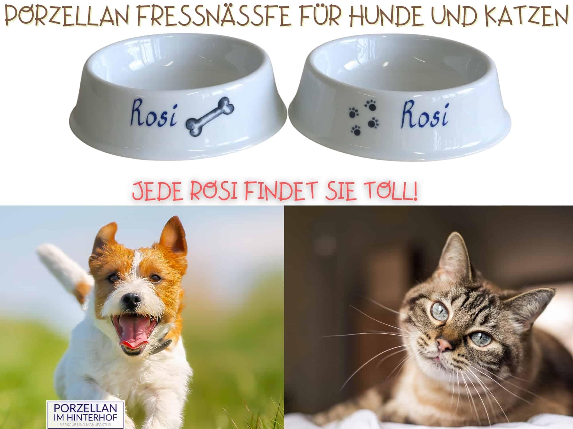 Hundenapfe, Katzennapf, Fressnapf personalisiert  und mit Motiv