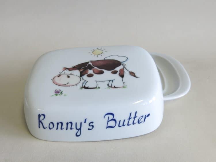 Butterdose König Kuh personalisiert mit Namen plus Butter