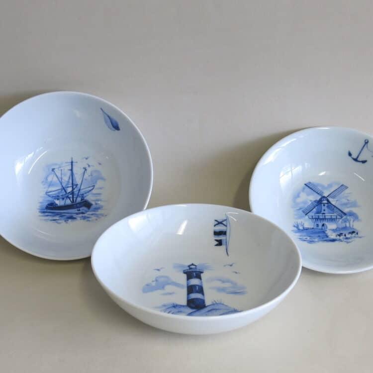 Schale Coup. Schüssel 16 cm olympia, bowl ole maritime motive ohne Namen