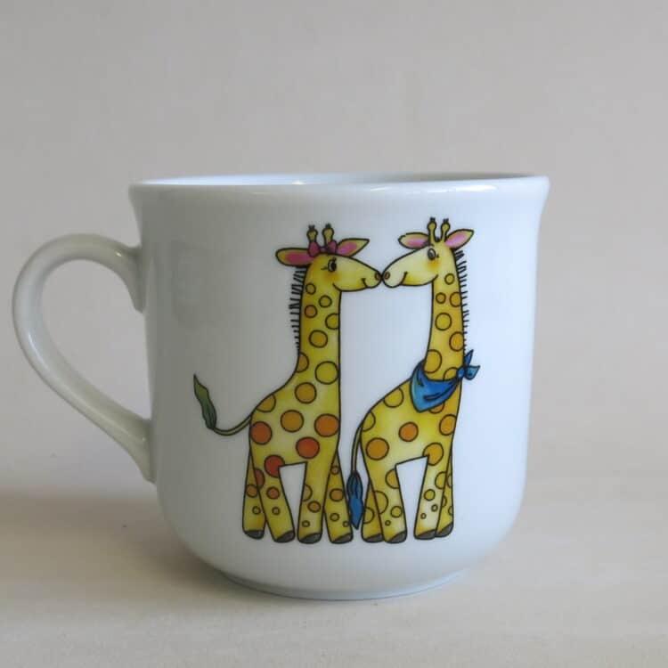 Becher kid giraffenpaar Linkshänder