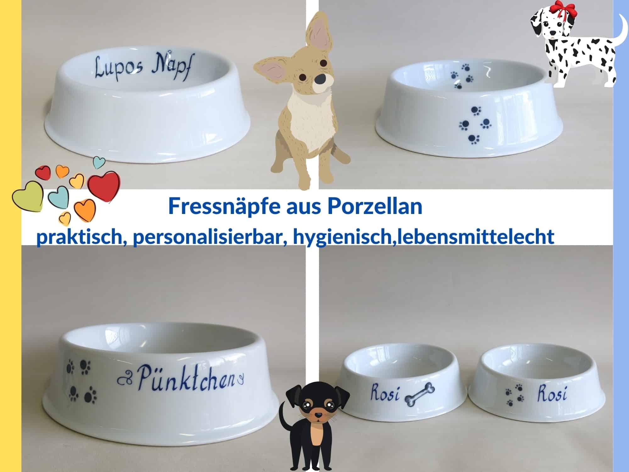 Porzellan Fressnäpfe für Hunde