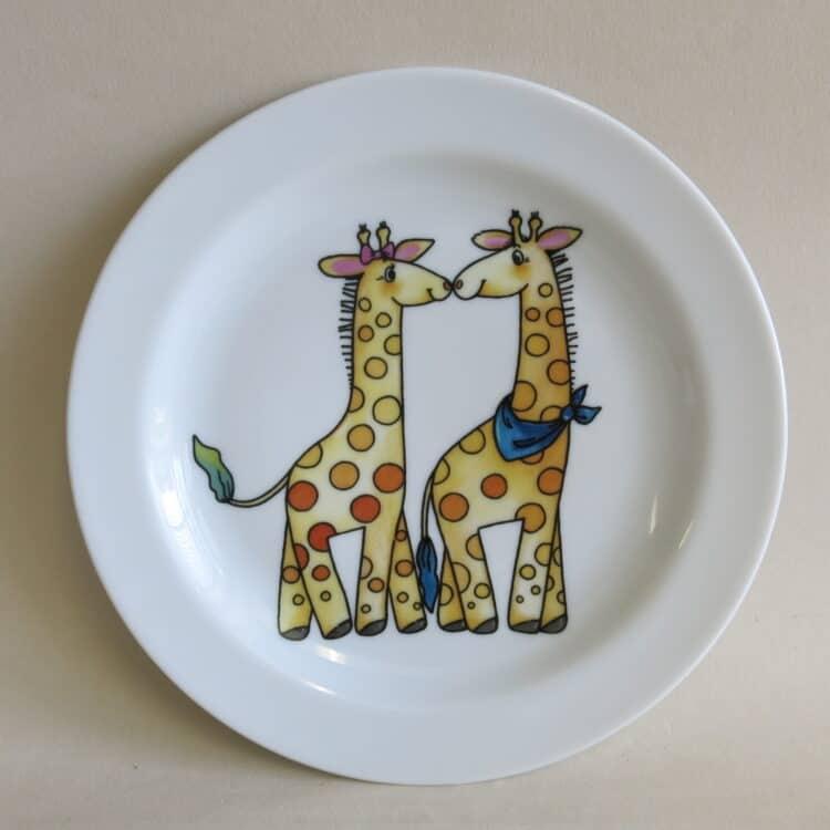 Teller Olympia 19 cm Giraffenpaar ohne Name